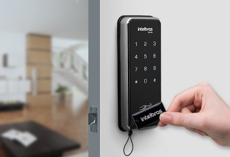 Comprar Fechadura Eletrônica a Cartao Vila Suzana - Fechadura Eletrônica com Biometria