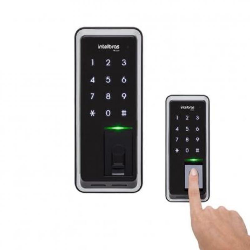 Fechadura Eletrônica com Digital Prosperidade - Fechadura Eletrônica Branca