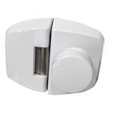 fechadura eletrônica branca